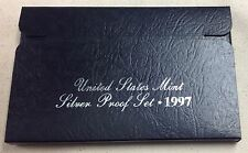 1997 US MINT SILVER PROOF SET - Complete w/ Original Box and COA
