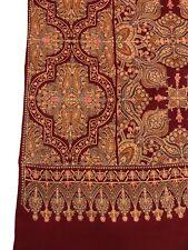 Sozni Embroidered Pure Wool Shawl, Kashmiri Shawl, Girls Wraps, Women Shawls