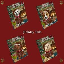Christmas Stocking Hung Dog Cat Pet Photo Small Magnet 5.5x4.25 Inch