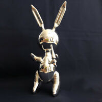JEFF KOONS STYLE BALLOON RABBIT SILVER AFTER 2018 EDITIONS STUDIO ZINC ALLOY