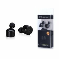 Mini True Wireless Bluetooth Twins Stereo In-Ear Headset Earphone Earbuds Black