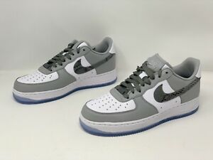 Nike Air Force 1 'By You' Light Gray Sneakers, Size 8 M / 9.5W BNIB