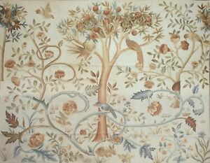 Aubusson Tapestry Handwoven French Gobelins Weave Tree of Life Wall Hanging