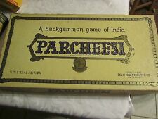 VINTAGE Parchesi by Selchow & Righter Co. - Gold Seal Edition - BWH