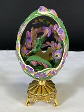 Franklin Mint House of Faberge Hummingbird Decorative Egg w/ Stand