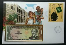 Dominica Penny Black 150th Anniv 1991 Rowland Hill FDC (banknote cover) *Rare