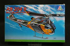 XY104 ITALERI 1/72 maquette helicoptere 1201 AB 204 B Rescue Helicopter