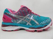 Asics Gel Nimbus 18 Size 8 M (B) EU 39.5 Women's Running Shoes Green Pink T650N