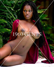 "1990s NUDE ""FIVE"" 8X10 PHOTOS OF BUSTY BIG NIPPLES EBONY FROM ORIGINAL NEGS-1A"