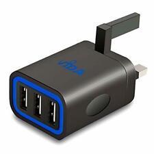 Vida IT VS1 Fast High Speed Triple USB 3 Port UK Wall Charger Mains Plug 3-Pin 5