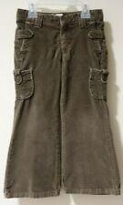 Gap Kids Khaki Green Brushed Cotton Flare Leg Cargo Pants Size 4