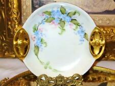 RS GERMANY HANDPAINTED FORGET-ME-NOT ART DECO TRINKET DISH/BOWL