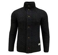 adidas Originals Men's TT Chunky Wool Cardigan Jumper Black