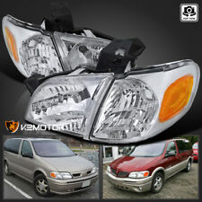97-05 Chevy Venture Silhouette Montana Crystal Headlights+Signal Corner Lamp 4PC