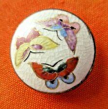 "6530 – Beautiful Colorful Triple Butterfly Satsuma Button, 7/8"""