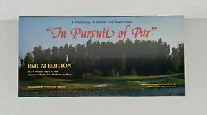 New - Vintage 1986 In Pursuit of Par Board Game Realistic Golf Par 72 Edition