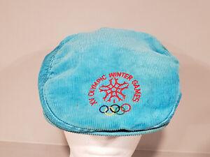 XV Olympic Winter Games Calgary Canada Vintage Corduroy Flat Cap Snapback Hat
