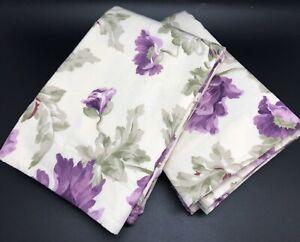 Ralph Lauren VIOLETTE Purple Floral PAIR Handmade KING Size Pillow Shams