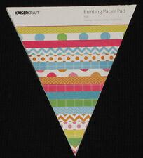 Kaisercraft 'POP!' Bunting Paper Pad 48 Sheets Party (24 Designs x2) KAISER