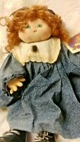 "Jan Shackelford dolls Soft Sculpt Face 19"" Winterthur Museam Show Doll Signed"