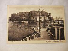 Vintage Napoli S. Lucia e Castel dell'Ovo. Postcard