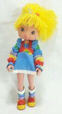 """Vintage Rainbow Brite 8"""" Plastic Vynl Doll Hallmark 1983"""