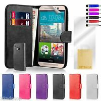 32nd Book Wallet Leather Case Cover for HTC One X9 + Screen Protector & Stylus