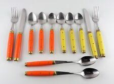 Melron Orange & Yellow Bakelite Flatware Mcm Vtg Retro 50s Made France