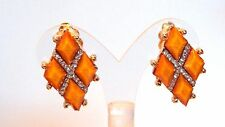CLIP-ON EARRINGS TRIANGLE ASSORTED COLORS CRYSTAL 1 INCH CLIP EARRINGS