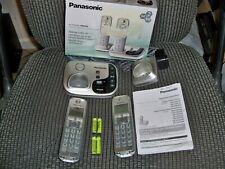Panasonic Kx-Tgd222N Champagne Gold Digital Cordless Answering 2 Phone Good Used