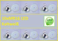 10x MR16 Led SMD 5W Kaltweiß Leuchtmittel Lampe Strahler Licht SpotBirne Fassung