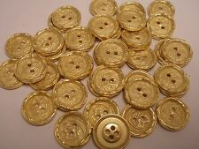 New Italian Gold Metal Buttons sizes 11/16, 13/16, 1 inch (G18)