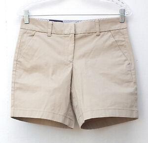 NWT Tommy Hilfiger Women's Flat Front Walking Shorts Cobblestone Beige Khaki