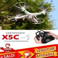 DRONE QUADRICOTTERO X5C-1 CON VIDEO CAMERA FOTO HD 2.4Ghz 6-Axis LUCE LED LCD