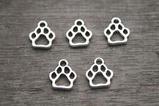 30pcs--Dog Paw Charms Tibetan Silver Paw print charm pendants 11x13mm