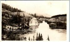 YUKON RIVER, CANADA   Real Photo View of MILES CANYON  1950   Postcard