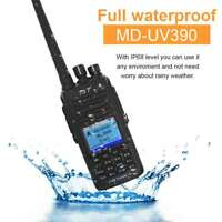 New TYT MD-UV390 IP67 DMR Digital Mobile Radio Dual Band UHF VHF 2 Way Radio