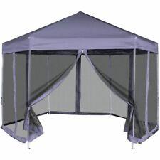vidaXL Partytent met Zijwanden Pop-Up Zeshoekig Donkerblauw Feesttent Tent