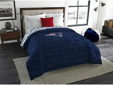 New England Patriots Comforter NFL Twin Full Officially Licensed Team Bedding