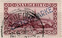 """SARRE / SAAR / SAARGEBIET 1930 """" BREITFURT """" Stempel on Mi.D28"""