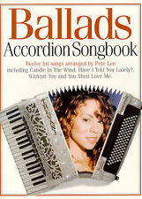 BALLADS Accordion Music Book Songbook Learn to Play