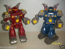 ROBOTS, MECHANICAL, ELECTRONIC, 2 FOR 1, GOLDLOK TOYS, 2001, COLLECTIBLES