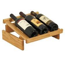 Wooden Mallet 3 Bottle DakotaWine Display- WRD3LO Wine Rack NEW