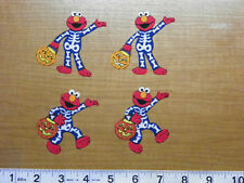 Sesame Street ELMO Halloween Fabric Iron On Appliques Skeleton Costume Iron Ons