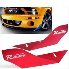 CAR RACING WIND FAN ALUMINUM BUMPER SPLITTER SPOILER WING X 2 PCS FUCHSIA COLOR