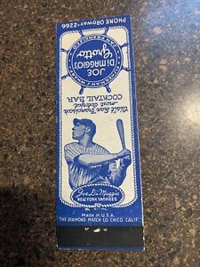 JOE DIMAGGIO'S GROTTO MATCHBOOK PANEL SAN FRANCISCO  NEW YORK YANKEES