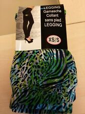 Legging imprimé léopard et zèbre blanc, noir, vert, bleu, taille XS/S, neuf