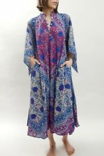Matta Manasi vintage-inspired Indian block print cotton dress sea size small