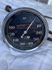 Vintage AC 80mph Speedo.