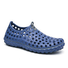 Men Summer Beach Pool Sandals Breathable Hollow Flats Casual Slip On Water Shoes